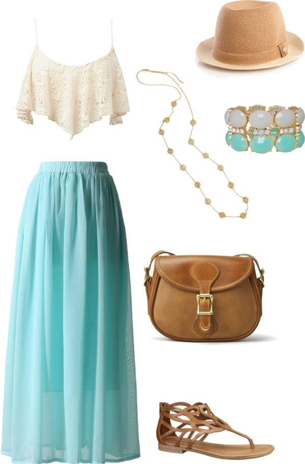 Turquoise summer maxi skirt ... I'll take a longer shirt though please