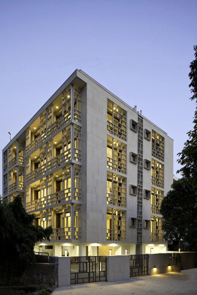 Saxena Apartments Vir Mueller Architects India Architecturearchitecture Designfacade