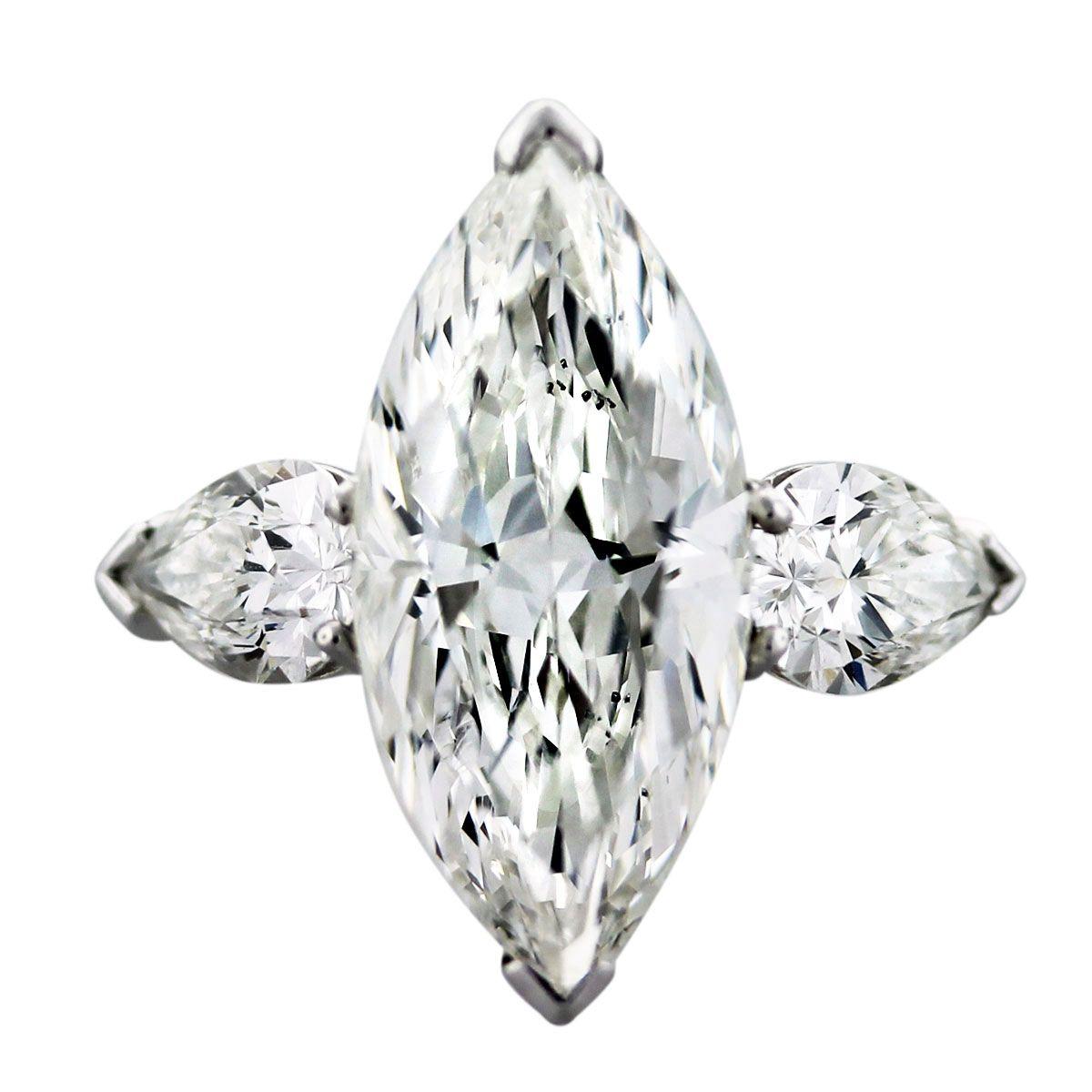 Graff carat marquise and pear shape diamond platinum engagement