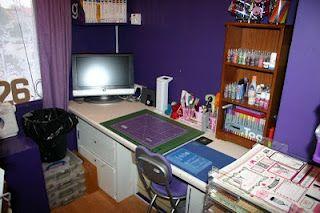Purple craft room!
