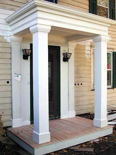 Flat Roof Portico Front Porch Design Porch Design Portico Design