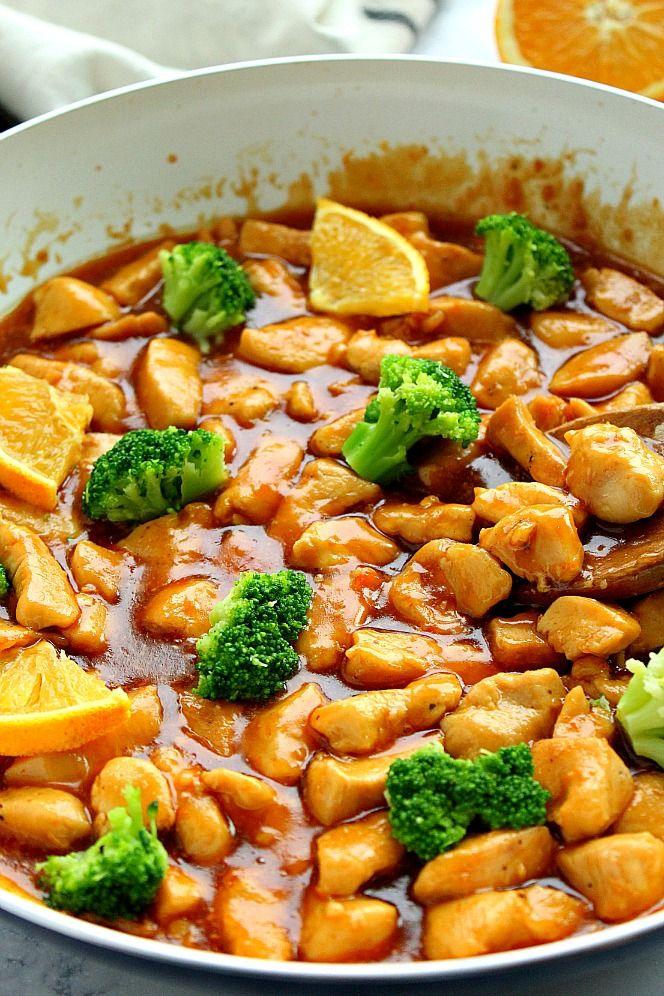 Skinny Orange Chicken Recipe - quick and easy Asian dish ...