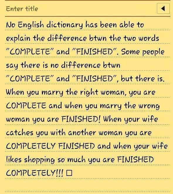 Forum | ______ Learn English | Fluent LandOne Interesting Definition About  COMPLETE Vs FINISHED | Fluent