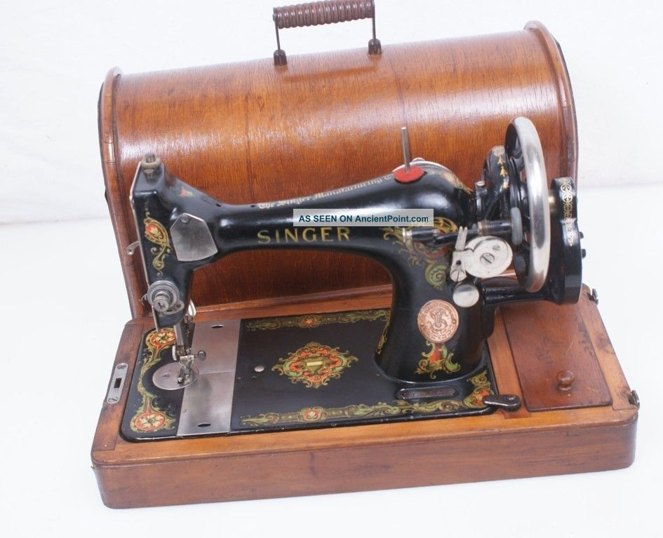 40 Singer Beauty 40 K Hand Crank Sewing Machine Wcase 40 140 New Singer Hand Crank Sewing Machine