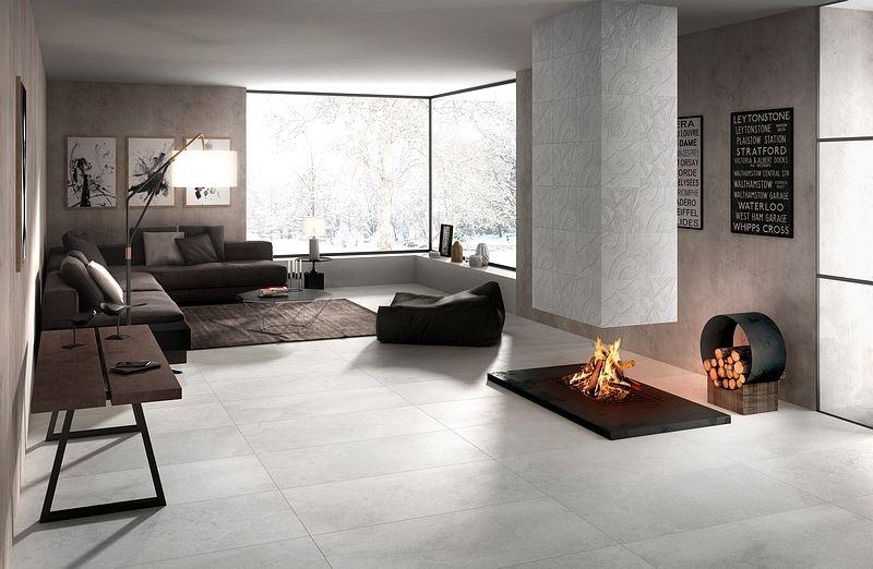stones  farbe bianco  fliesen wohnzimmer feinsteinzeug