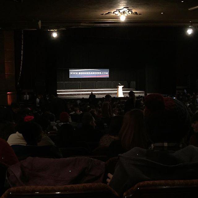 Excited to hear Mr #BernieSanders... #ISecretlyHopeHeComesOutToJumpman #PoliticalChick