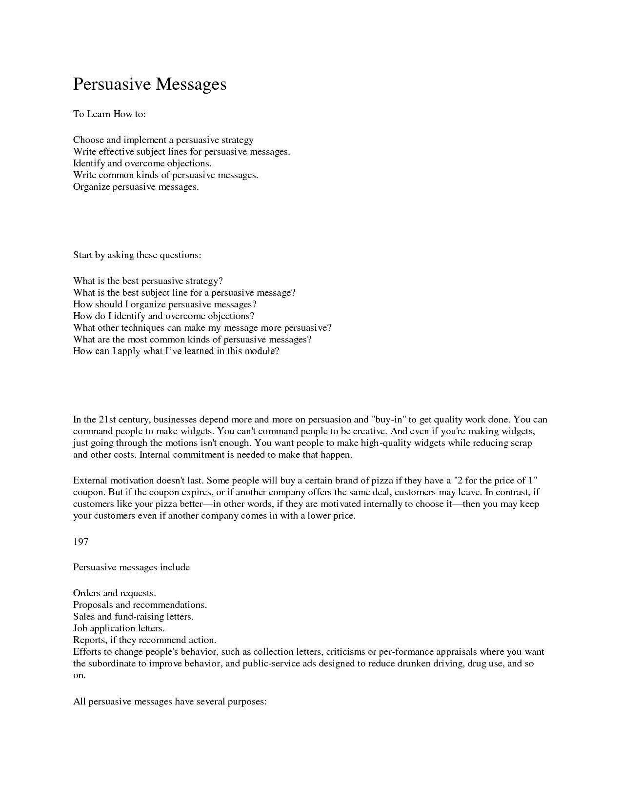 Business Persuasive Letter Example Elegant Best S Of