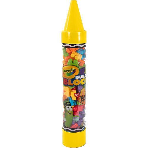 Crayola Construction Building Blocks Crayon Tube 80 Pieces