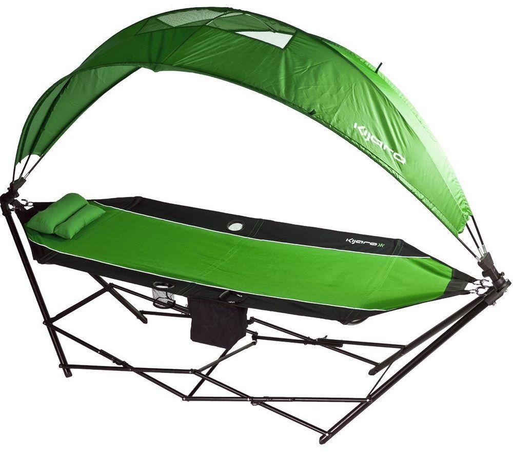 Sun Shade Hammock Portable Camping Canopy Outdoor Travel Cot Beach