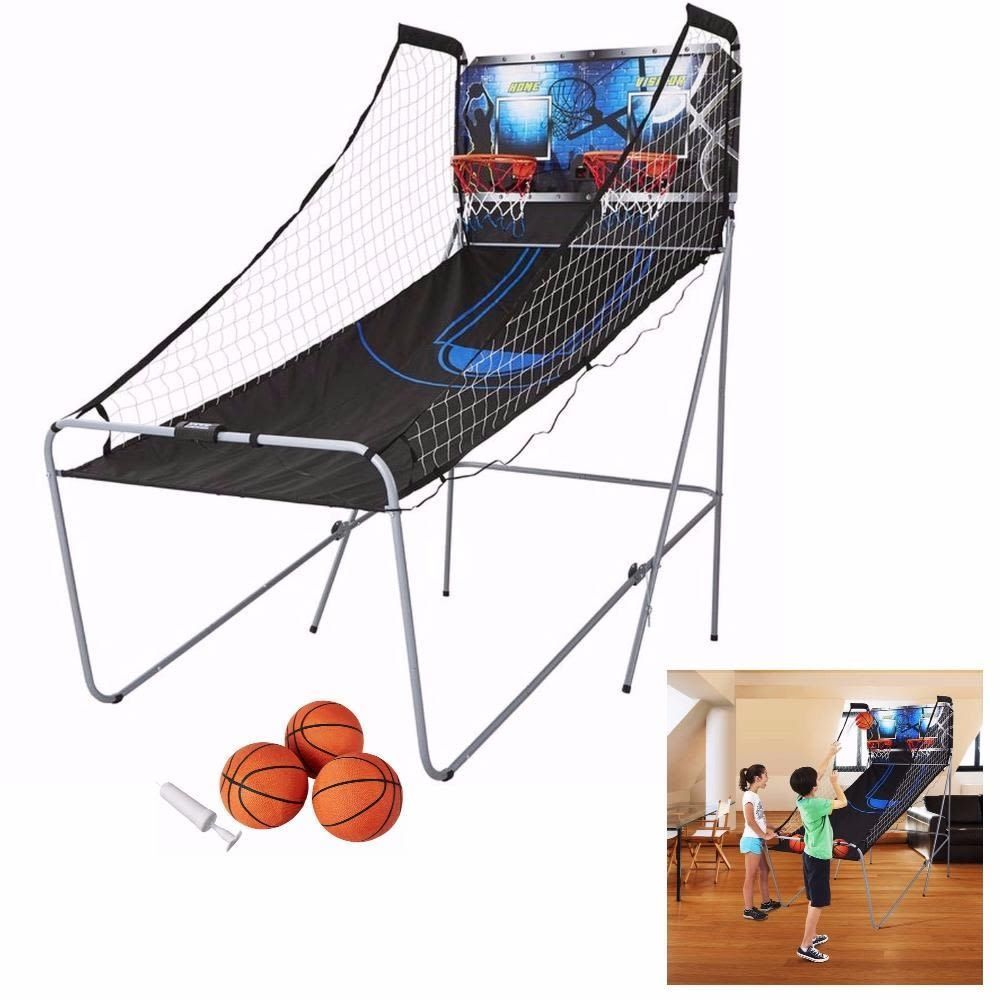 Double Hoop Basketball Game 2 Player Arcade Room Indoor Kids Game Christmas Gift Mdsports Indoor Games For Kids Christmas Games For Kids Basketball Games