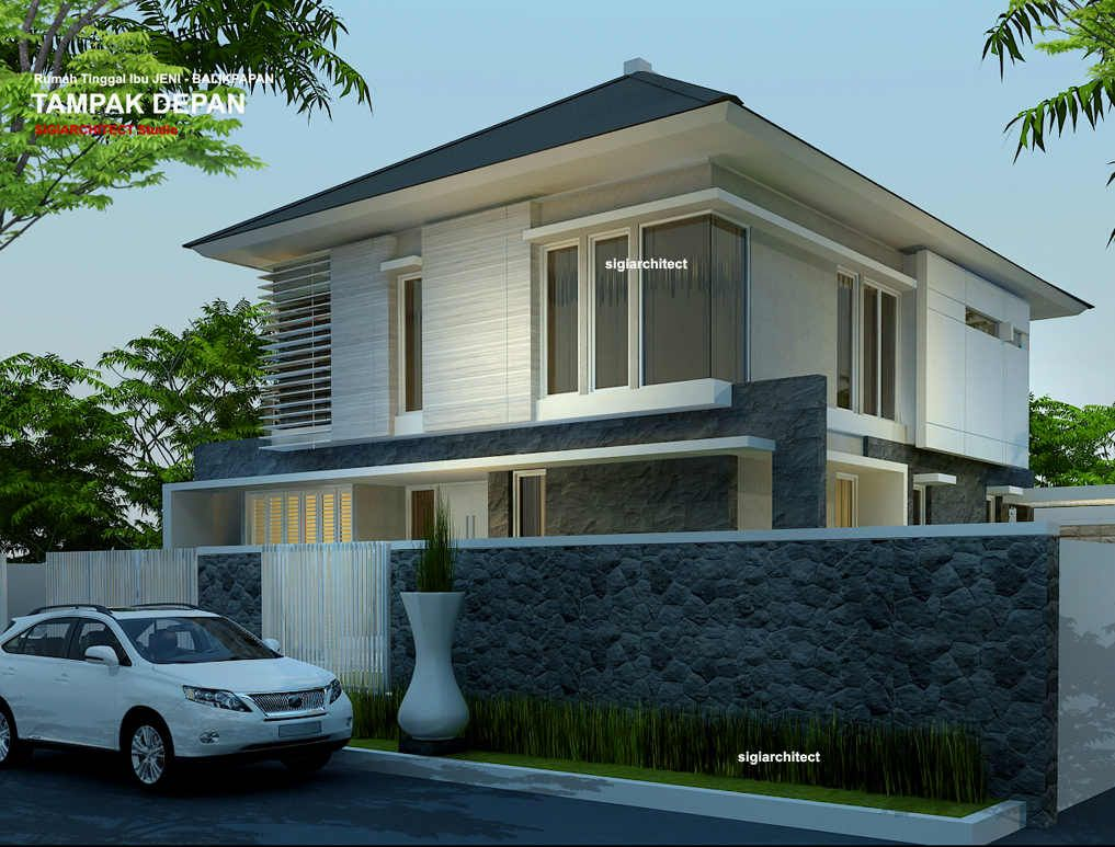 rumah sudut minimalis 1 lantai