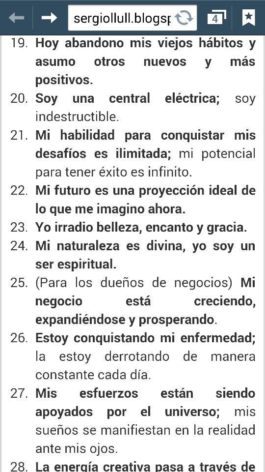 35 Afirmaciones postivas 3/4