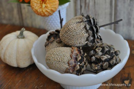Ah Pinterest, you font of ideas and things I MUST MAKE right now! LOL   I love the huge acorns I've been seeing at some online shops but th...