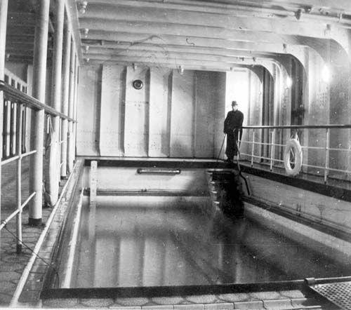 Inside Titanic 2: Inside The Titanic: Swimming Pool 1912 #Titanic #History