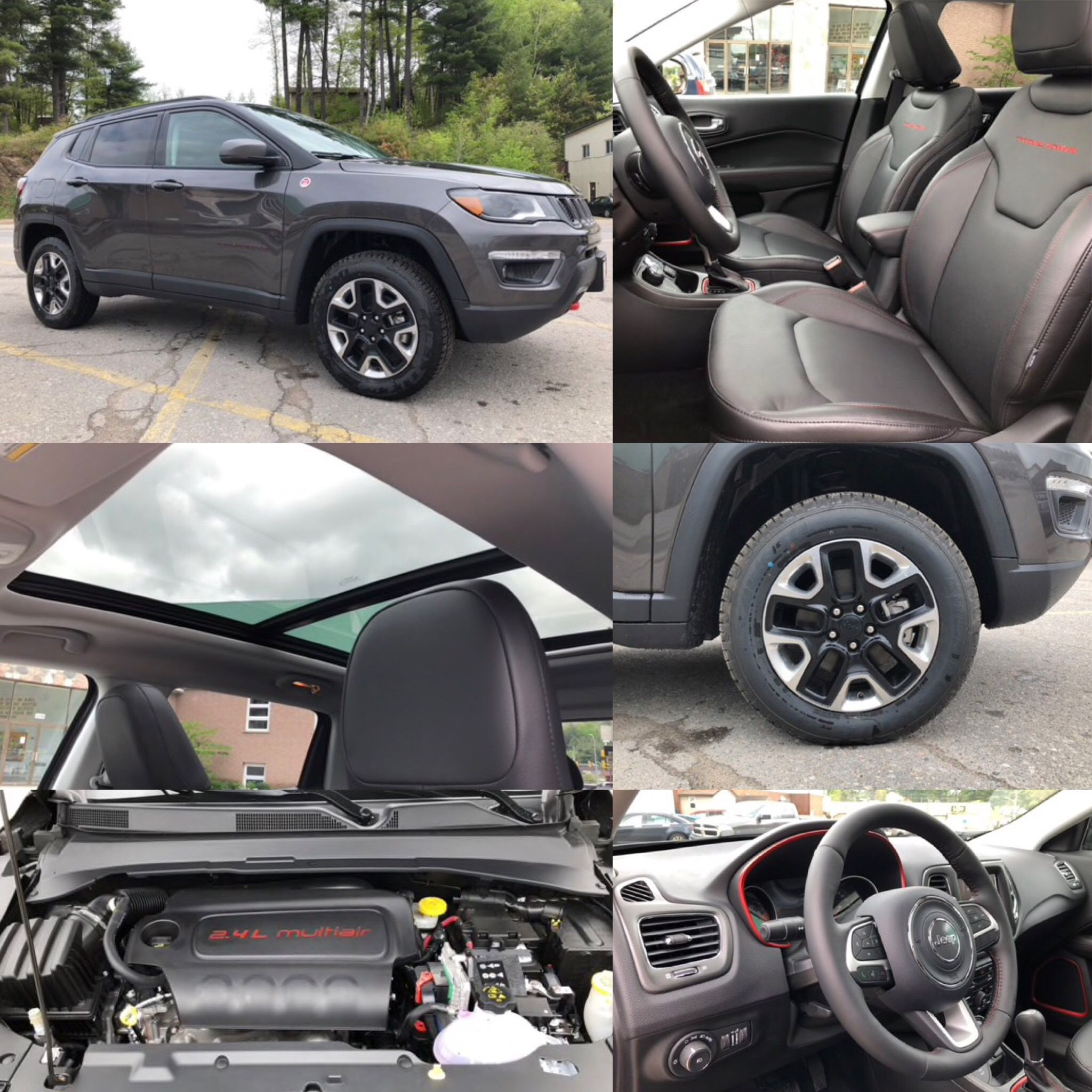 2018 Granite Crystal Metallic Jeep Compass Trailhawk 4x4