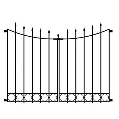 Beaumont No Dig 40 4 In H X 53 7 In W Black Steel Decorative