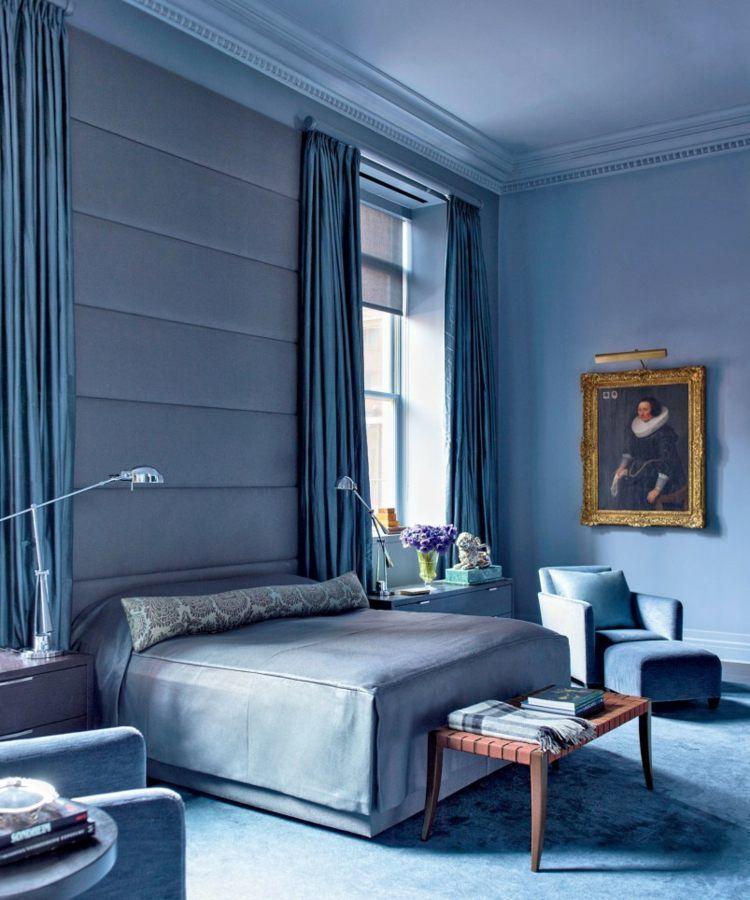 vorhang-design-schlafzimmer-pantone-farbe-idee-eintoenig-auslegware ...