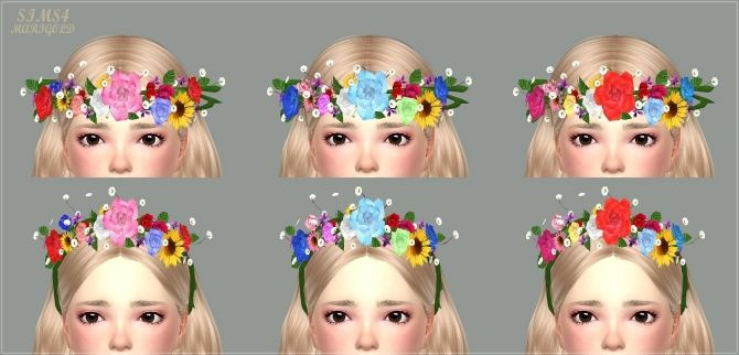 Child Flower Crown At Marigold