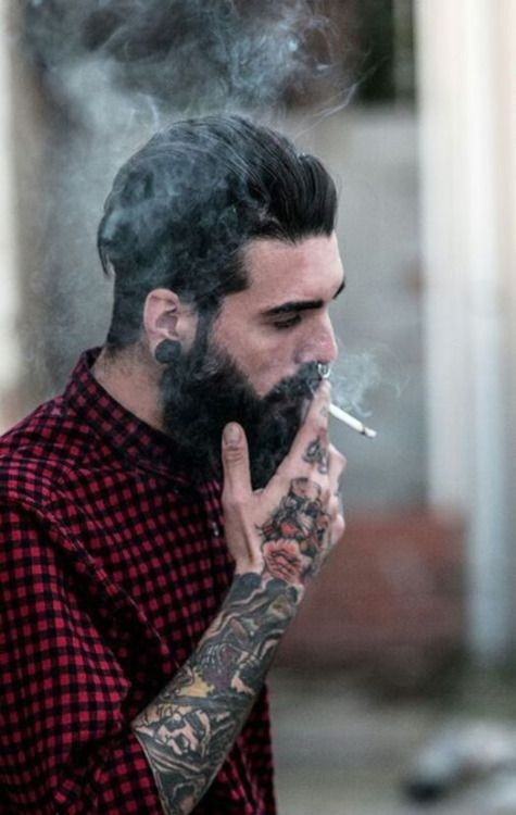 Just Me | skin ink w 2019 | Beard tattoo, Hair, beard styles i Hipster man