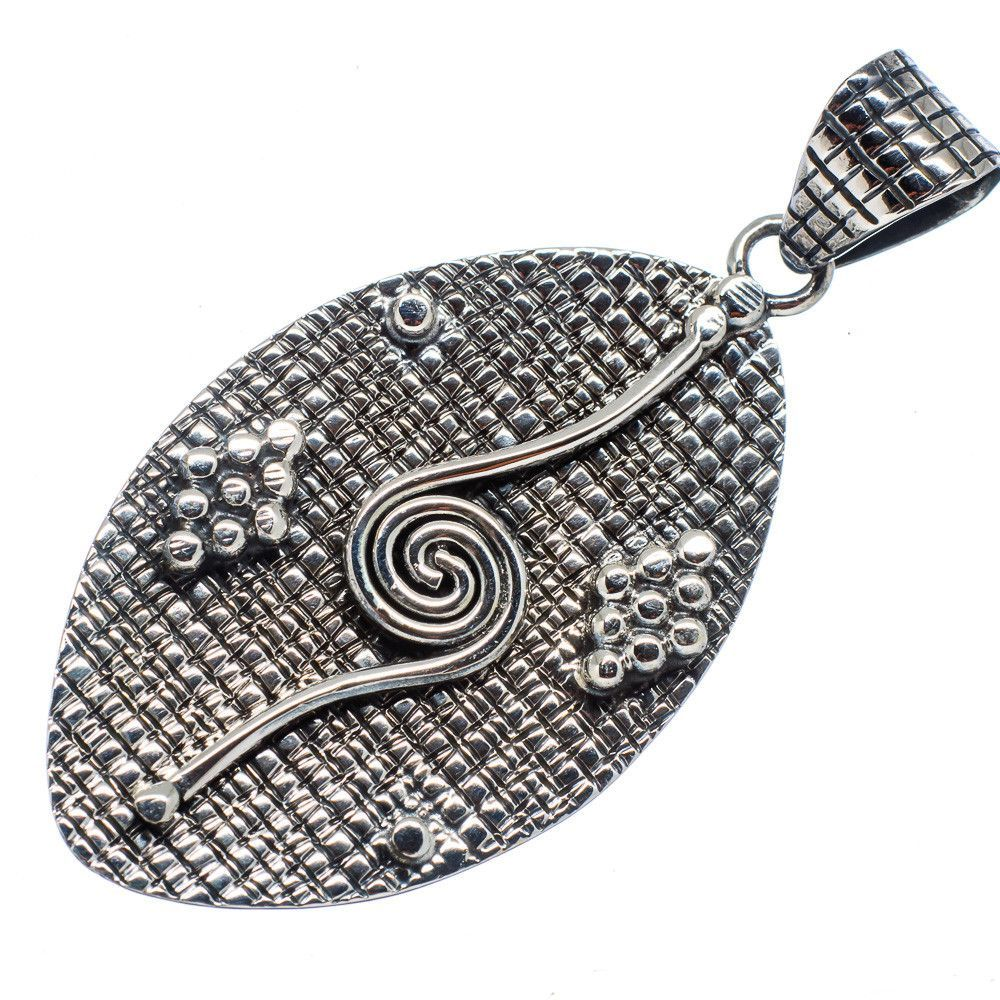 """Engraved 925 Sterling Silver Pendant 2 1/4"""" PD481914"""