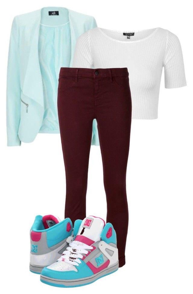 """""""Untitled #429"""" by selena-cage ❤ liked on Polyvore featuring Anastasia, Topshop, J Brand and DC Shoes"""