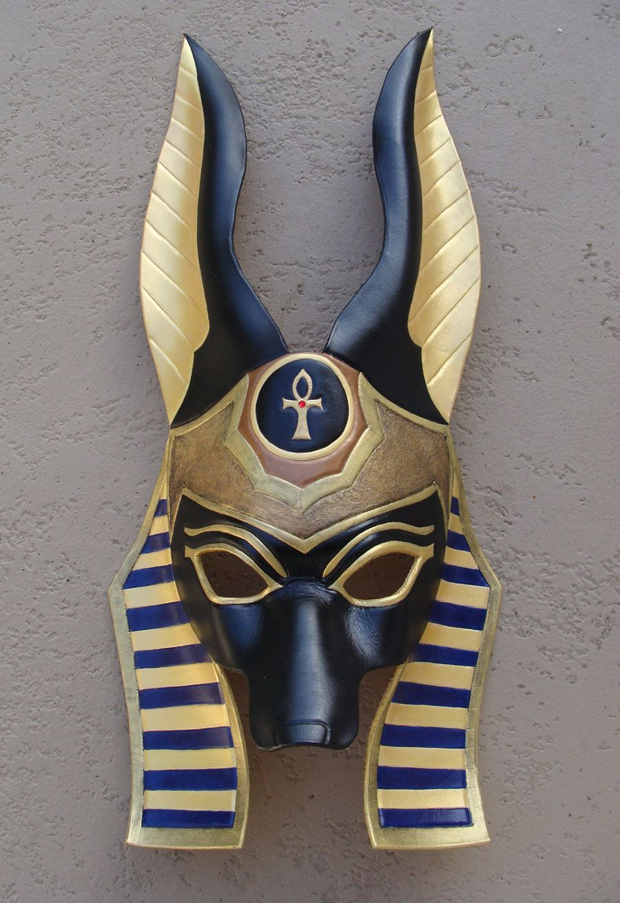 Egyptian Anubis Leather Mask by senorwong.deviantart.com on ...
