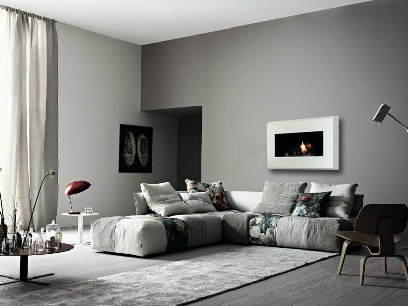 Salones con chimenea 65 ideas ardientes Chimeneas modernas, Salón