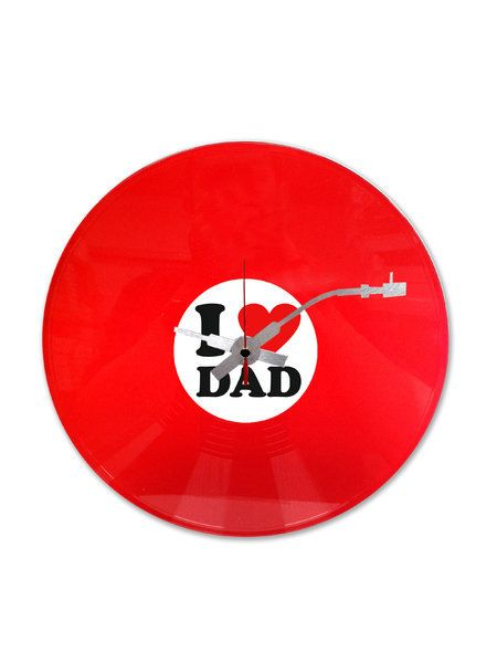 I Love Dad Vinyl Record Clock by InteriorPlace on Etsy, $38.99