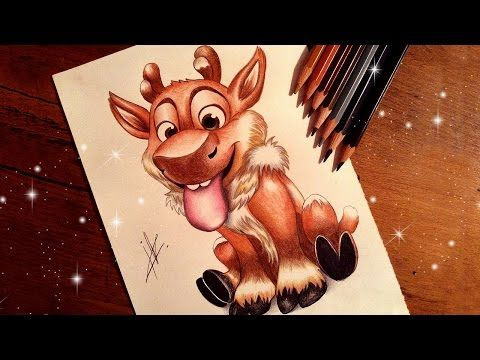frozen drawing baby sven youtube