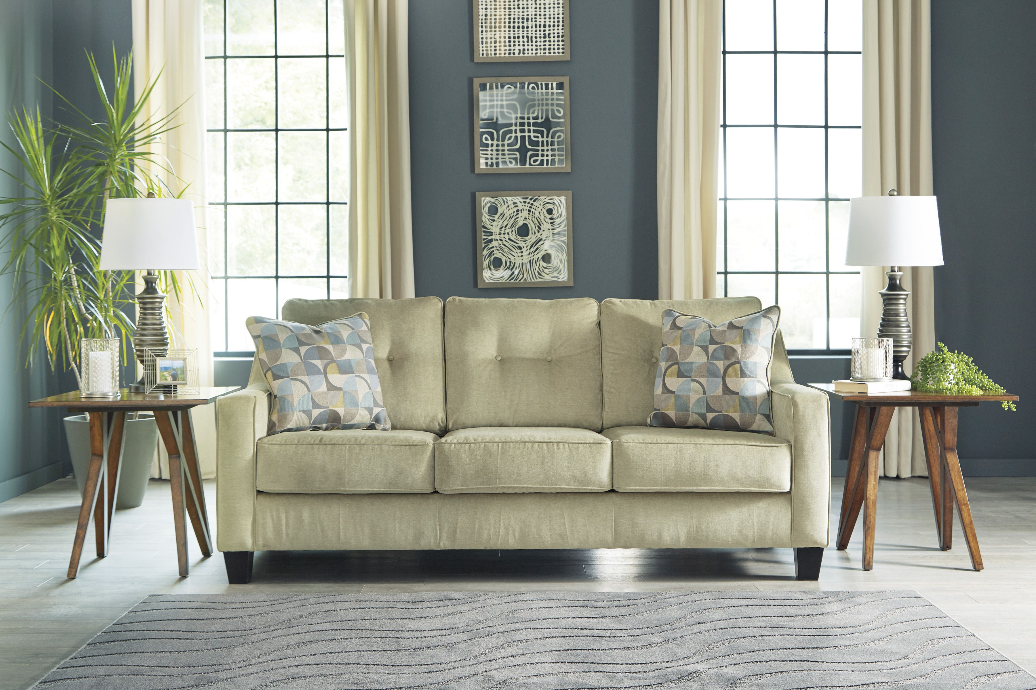 Bold Wall Colours Are On Trend This Year Make Them Match Your Furniture With Neutral Colours Sofa Furniture Best Sofa
