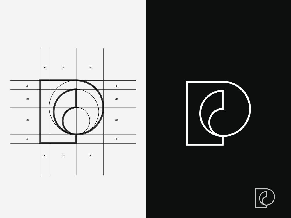 Passika Creations Art Gallery Pc Logo Logo Design Inspiration Branding Geometric Logo Design Logo Design