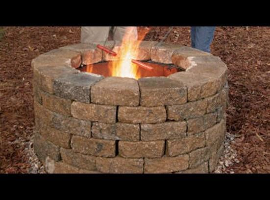 Fire Pit Made With Old Dryer Drum Surrounded By Stone This Is