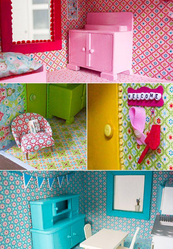 neugestaltung eines puppenhauses 3 m bel lackieren und puppenhaus einrichten diy blogger contest. Black Bedroom Furniture Sets. Home Design Ideas