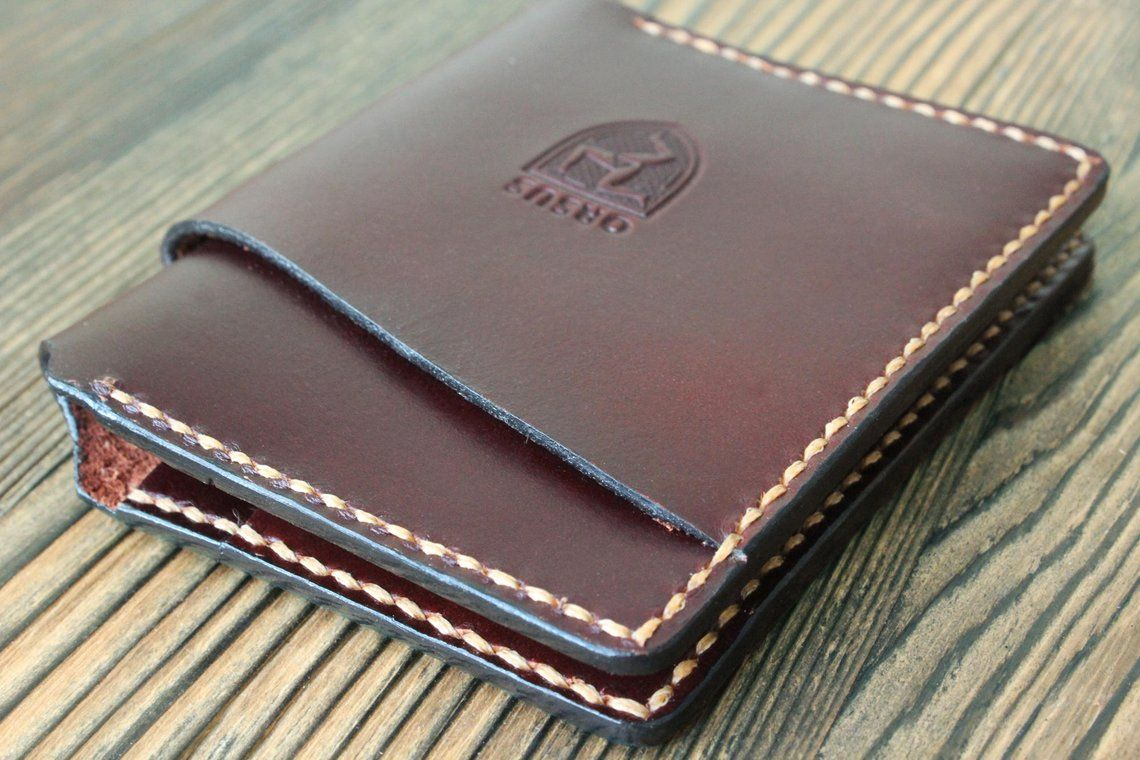 Personalized Wallet Black Cow/'s leather Bifold Slim Great gift or present idea