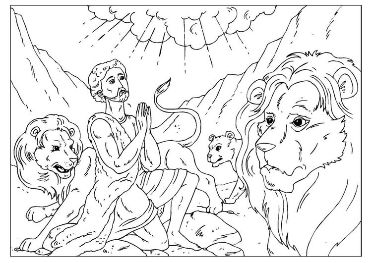 coloring page daniel in the lions' den | coloring - bible ... - Bible Story Coloring Pages Daniel