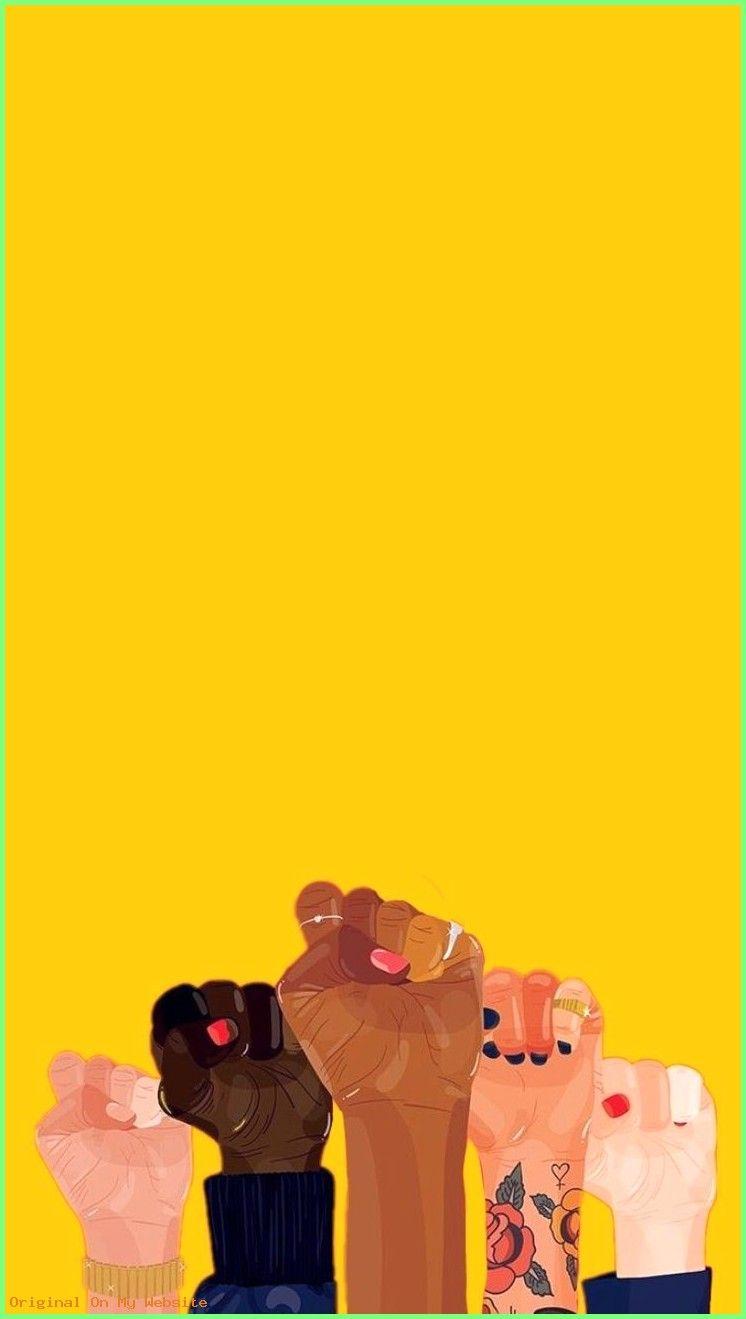 Wallpaper Iphone Girl Girlpower Feminism Female Yellow
