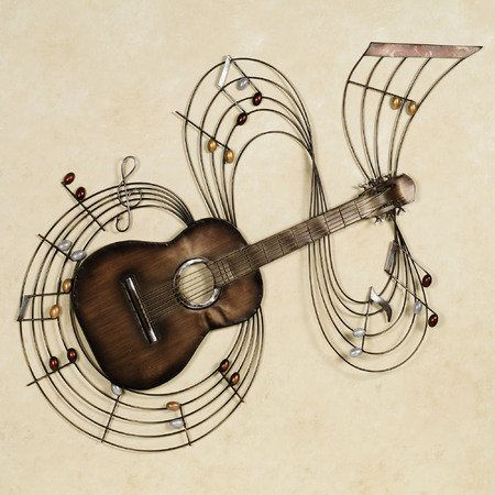 Within the Music Guitar Metal Wall Art   Music wall, Walls and Music ...