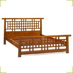 chinese lattice bed frame