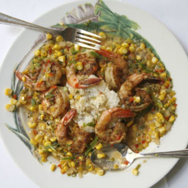 Maque Choux and Shrimp Recipe #cajundishes