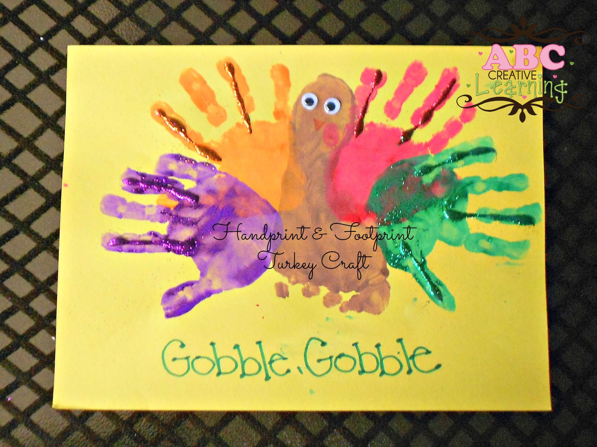 Handprint Footprint Turkey Kids Craft Perfect For Fall Or Thanksgiving Arts Crafts