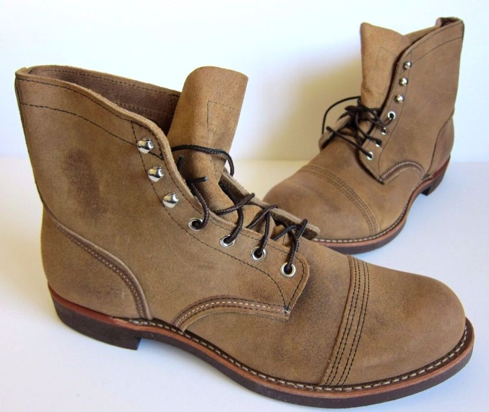 NEW Red Wing Hawthorne Muleskinner 8113 Iron Ranger Leather Mens Boots 11.5  D #RedWing #