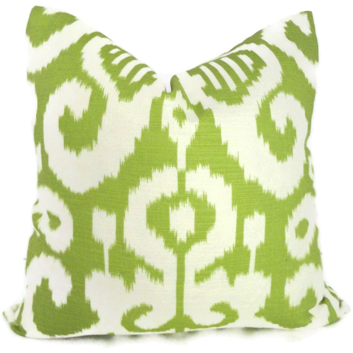 Duralee spring green ikat decorative pillow cover throw pillow