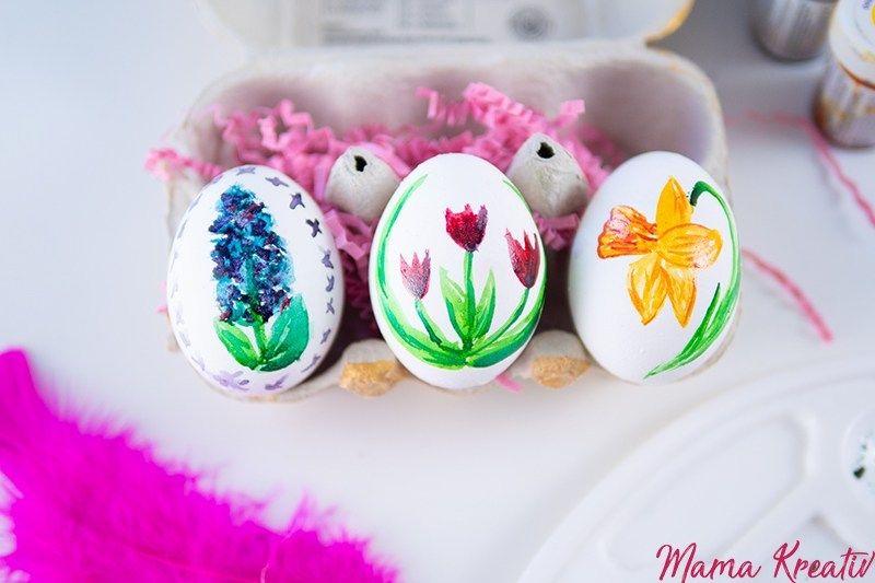 Ostereier mit Lebensmittelfarben bemalen — Mama Kreativ