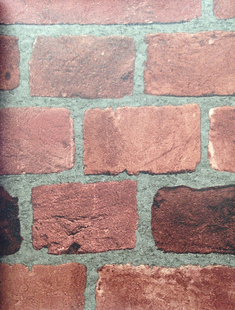 Dark Red Brick Wallpaper With Classic Rustic Look BC1583056 Design By Color Jewel