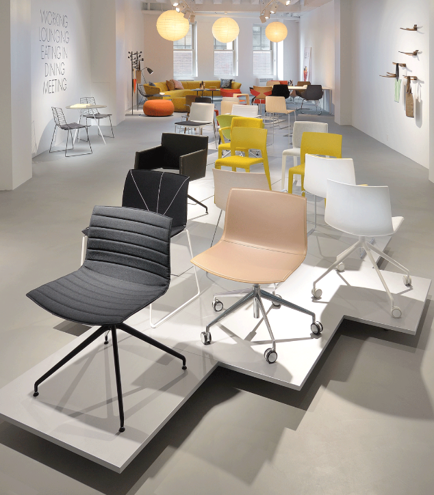 Arper view of the new showroom in chicago by architect for Idea furniture chicago