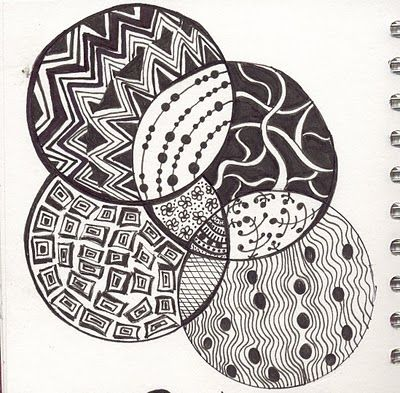 Zentangle Or Posh Doodling Art Sub Lessons Art Lessons