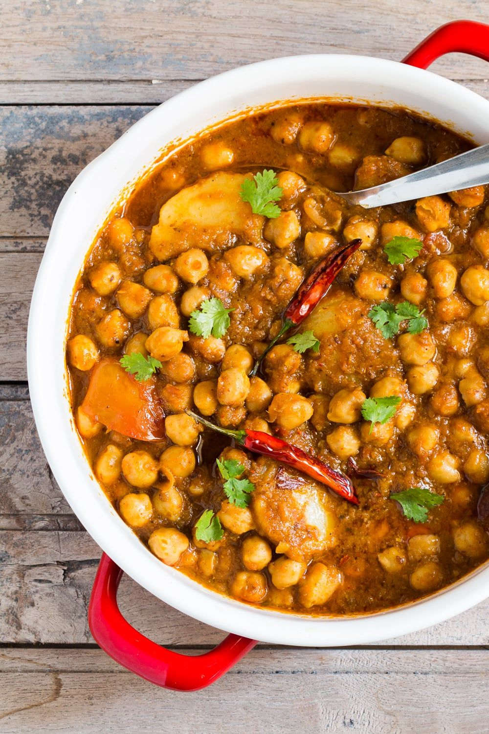 Chana Aloo Or Chhole Aloo Masala Spicy Chickpeas And Potato Curry