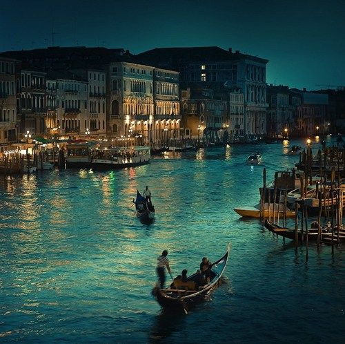 vacation travel photos - Venice at Dusk