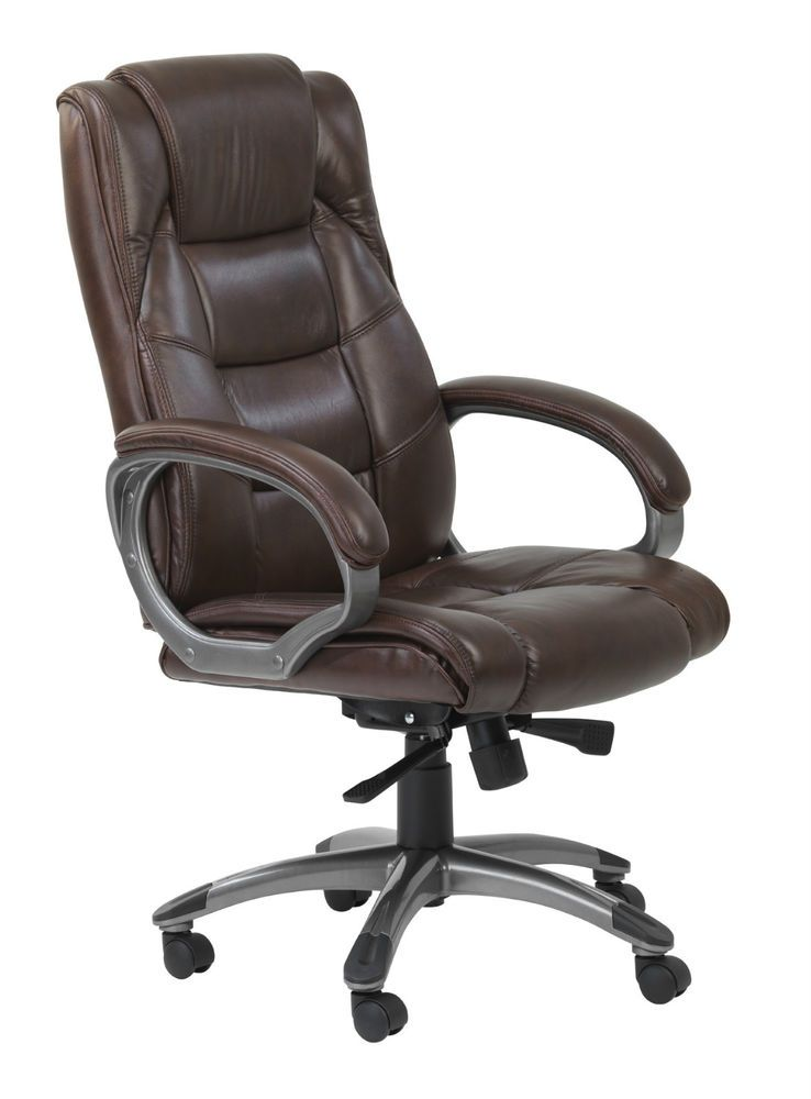 Alphason Northland Brown High Back Real Leather Executive Office