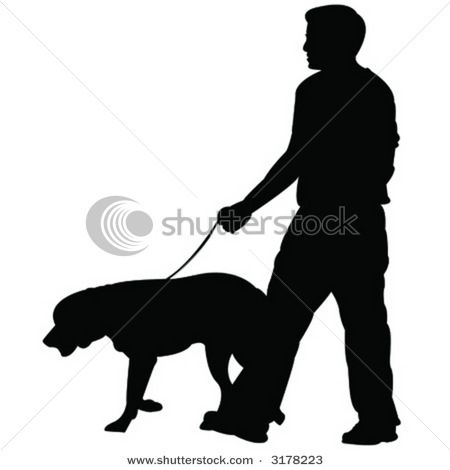 13+ Man and dog silhouette clipart info